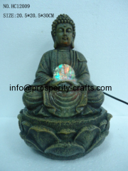 Poly resin Buddha Fountain