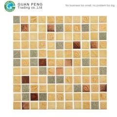 Kitchen Backsplash Ceramic Wall Tiles Design Mosaic Pattern Flower Mosaic Tile Picture For Bathrooms
