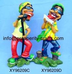 Polyresin / Ceramic Jamaican Figurine