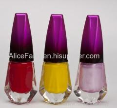 Nail polish many colors are offered