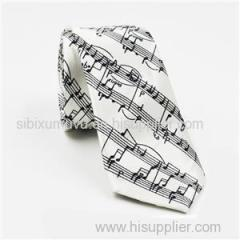 Digital Logo Printed Cotton Linen Wool Silk Ties