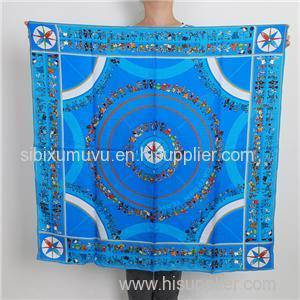 Customize Hand Rolling Silk Twill Square Scarf Digital Printed Bandana