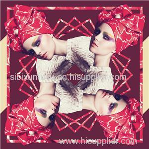 China Digital Print Custom Silk Scarf