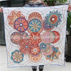 Customize Silk Twill Scarves Personalized Digital Print Silk Scarf Free Sample