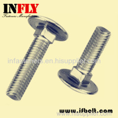 US A307A Carriage bolt in inch round head square neck bolt-Infly Fasteners Manufacturers