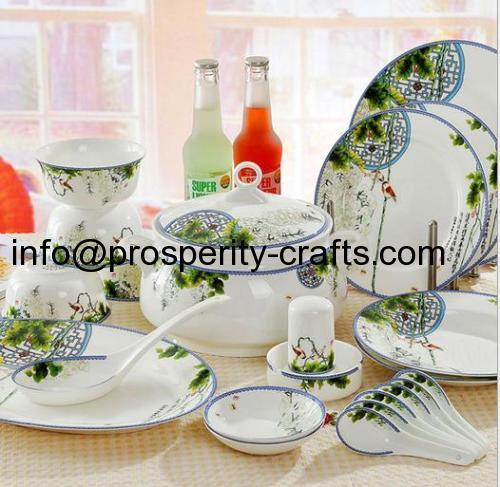Porcelain Dinnerware set .
