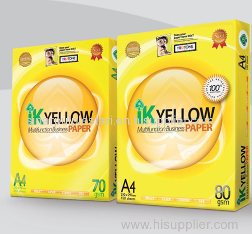 IK YELLOW MULTIFUNCTION BUSINESS PAPER A4 PAPER manufacturer