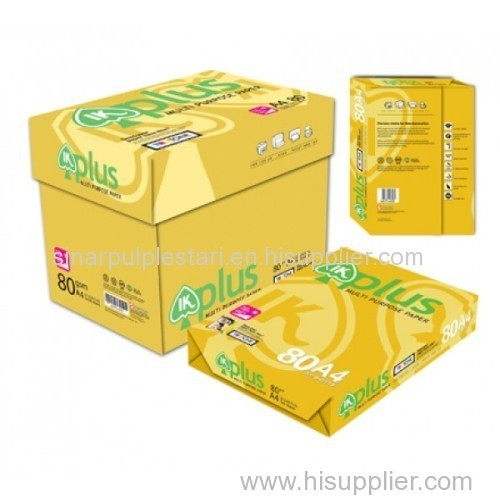 IK PLUS A4 80GSM COPY PAPER A4 PAPER manufacturer from