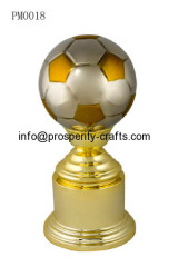 Polyresin Soccer Trophy & Alloy Badge