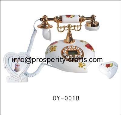 Polyresin & Plastic Telephone