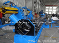 Manual size changeable C purlin roll forming machine