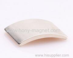 N48H 모터 자석 호 세그먼트 모양 강한 소결 네오디뮴 자석