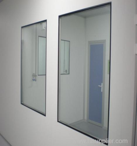 Pharmaceutical factory clean room windows