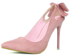 Cut out bowtie ladies high heel shoes