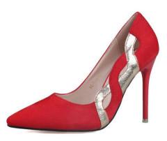 Senhoras dedo apontado cortar casamento sapatos de salto alto