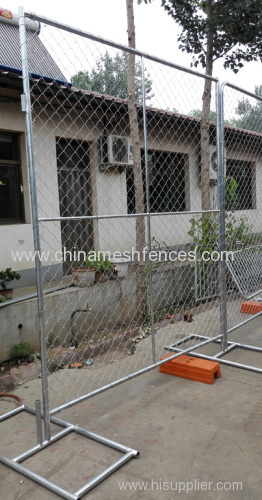 Ft chain link netting type galvanized temporary fence