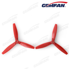 rc aircraft parts 6040 bullnose glass fiber nylon 3 blades propeller for drone