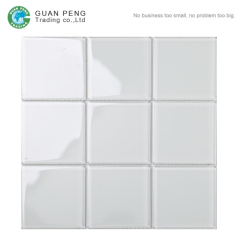 Gray Wall Tiles Design Backsplash 3d Mosaic Glass Tiles For Kitchen