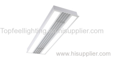 Panel light with louver