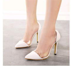 Women classic pointed toe high heel dress shoes