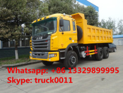 China JAC brand 25tons dump tipper truck for sale JAC 6*4 LHD 30tons dump truck