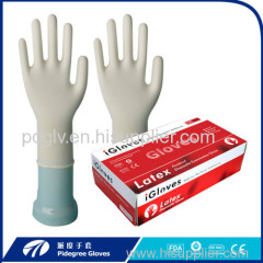 Non sterile Latex rubber Gloves top quanlity coating