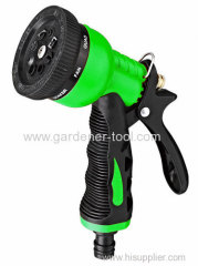 Plastic 8-pattern water nozzle for hose