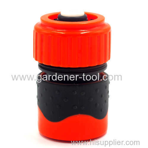 Plastic Soft 19MM water hose quick connector with waterstop