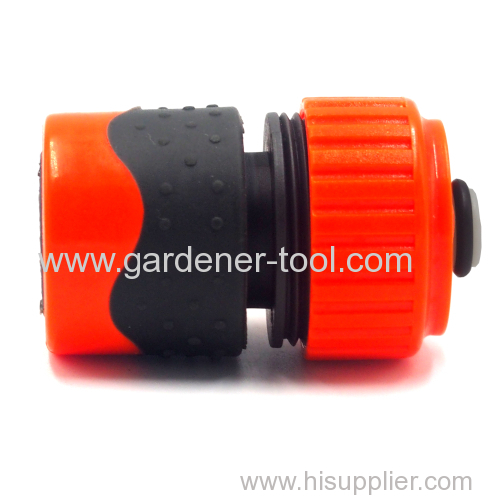 Plastic Soft 3/4 inch water hose quick connector with waterstop