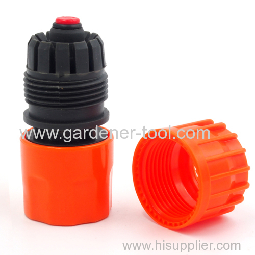 Plastic 5/8 &3/4  Hose-Female fast connector With waterstop