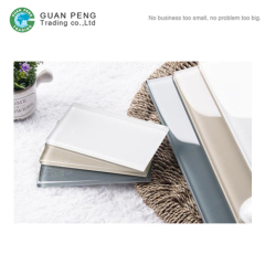 Bathroom Decorative Pure Color Glass Subway Wall Tiles Kitchen Backsplash Design