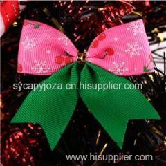 Decorative Printed Grosgrain Ribbon Christmas Ribbon Bow