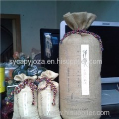 Wine Jute Bags Personalised