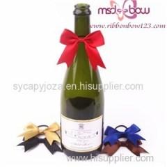 Wine Ribbon Bow For Bottle Decoration
