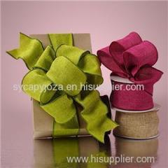 Christmas Jute Ribbon/burlap Ribbon Bow For Gift Box