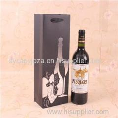 Grey Paper Wine Bags With Handles Wholesale