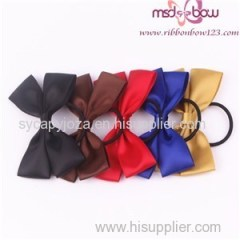 PRE-TIED SATIN RIBBON DOUBLE BOWS WITH ELASTIC