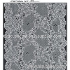 17cm Galloon Lace Dubai Nylon Stretch Lace Ribbon for Apperals and Underwear