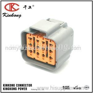 10 pin sumitomo gray female waterproof car electrical wire harness  connector 6195-0164 for toyota