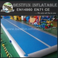 5m blauwe ondergrond opblaasbare sportschool tumbling matten lucht vloer
