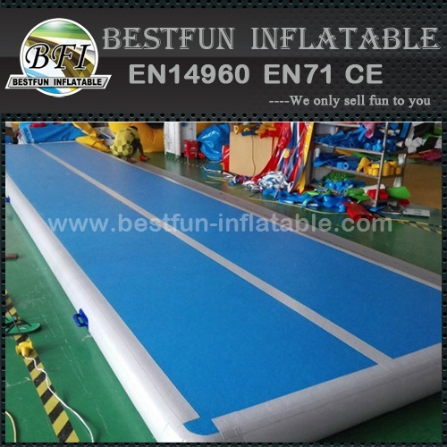 Inflatable air tumbling track mattress