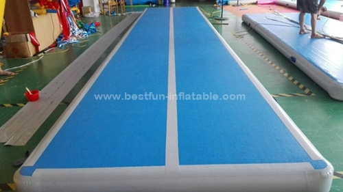 5m blue surface inflatable gym tumbling mats air floor