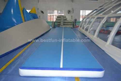 Double Wall Fabric Inflatable Air Track Mat For Gymnastics