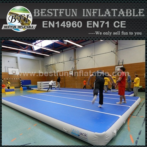 Hot airtight inflatable air tumble track