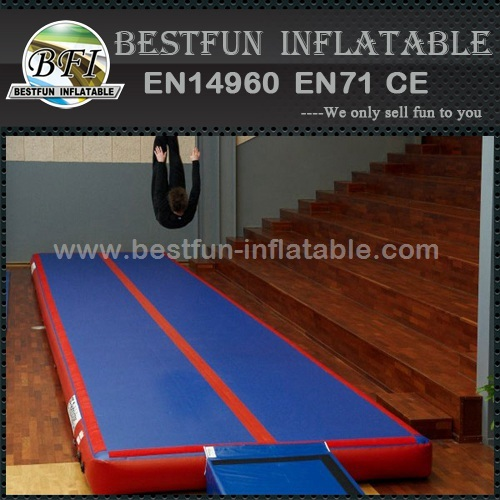 Heat welding inflatable air track gymnastics