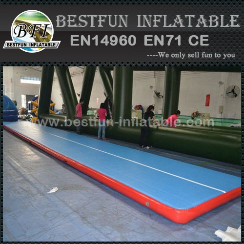 Custom size durable PVC inflatable air tumble track