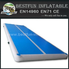 Inflatable tumbling mattress for gym