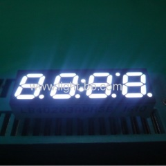 "Ultra Bright White 4-Digit 7mm (0.28"") Anode 7- Segment LED Display 30.2 x 10 x 6.1 mm"
