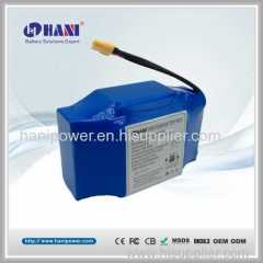 36V 4.4Ah 4400mAh Battery Pack for Hoverboard Balance Scooter 10S2P 18650 Samsung CE FCC IEC62133 Certification