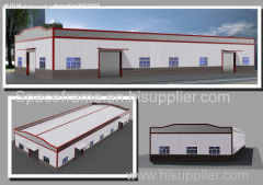 high quality prefab workshop and warehouse